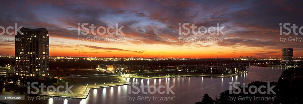 Las Colinas Sunrise stock photo