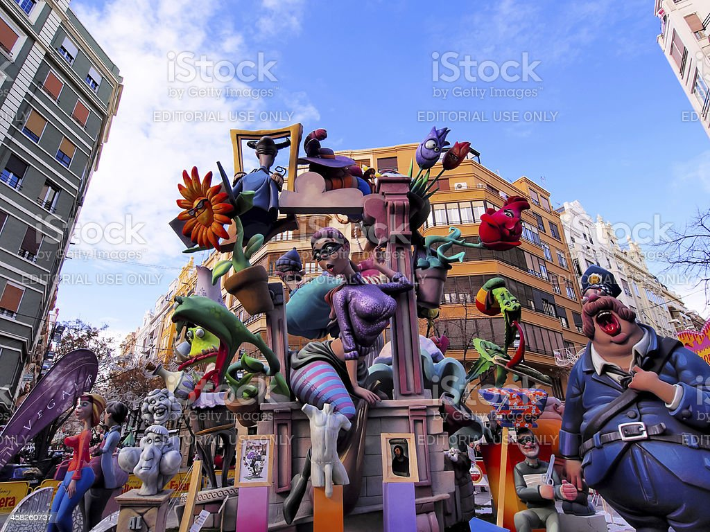 Las Fallas, Valencia, Spain royalty-free stock photo