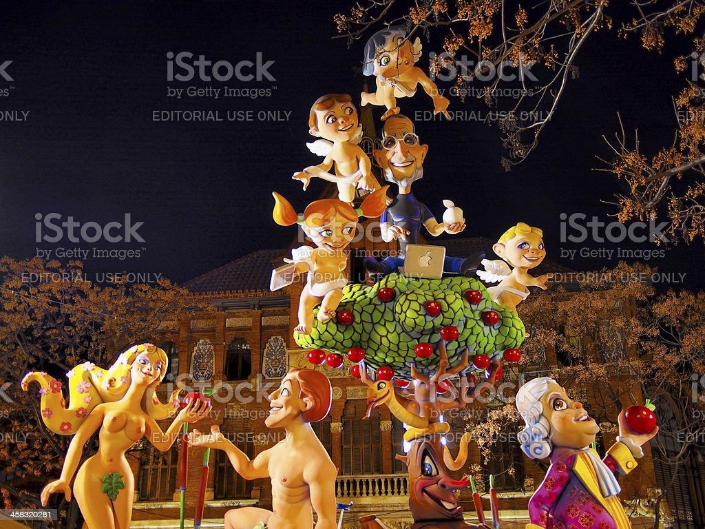 Las Fallas, Valencia, Spain royalty-free stock photo
