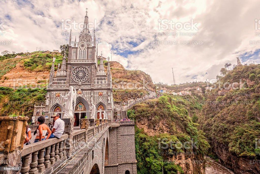 Las Lajas Sanctuary, Catholic Church, Colombia stock photo