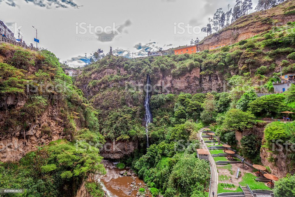 Las Lajas Sanctuary, Colombia, South America stock photo