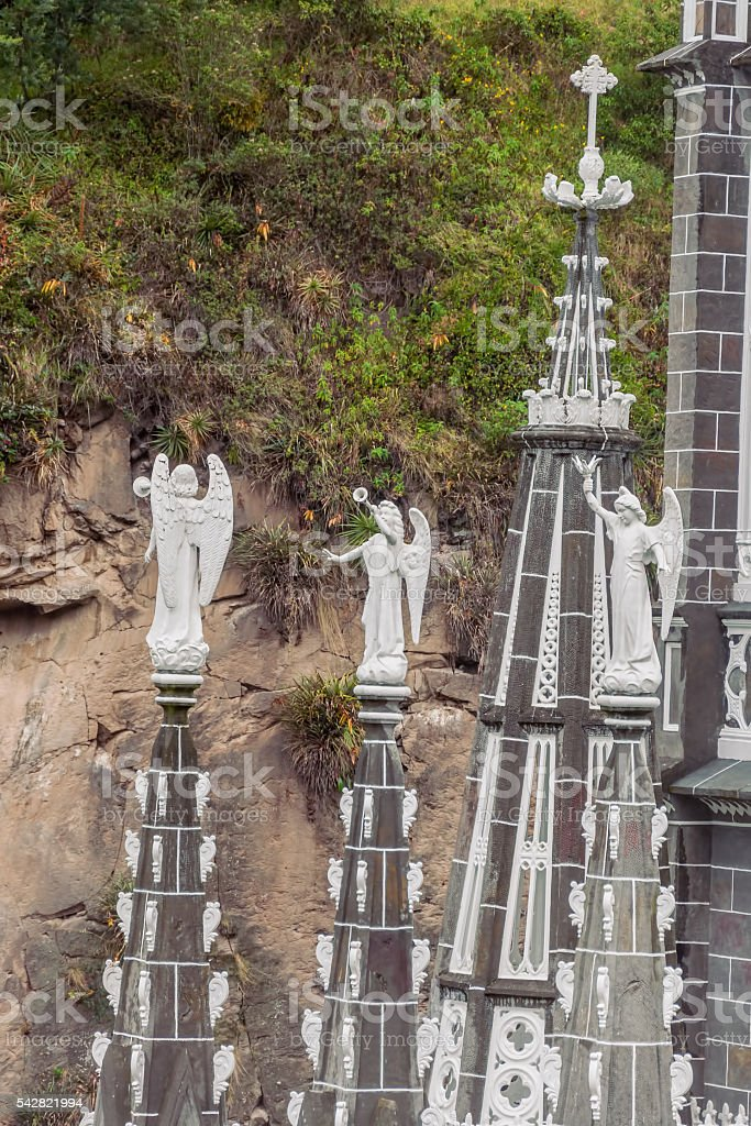 Las Lajas Sanctuary Is Located In Colombia, South America stock photo