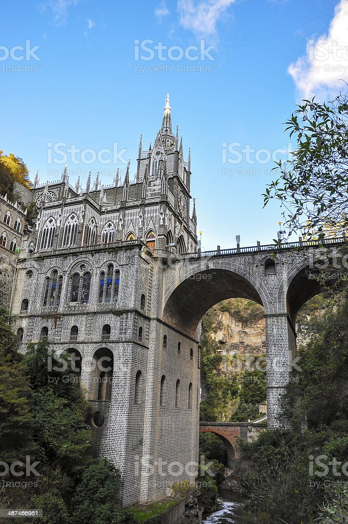 Las Lajas Sanctuary stock photo