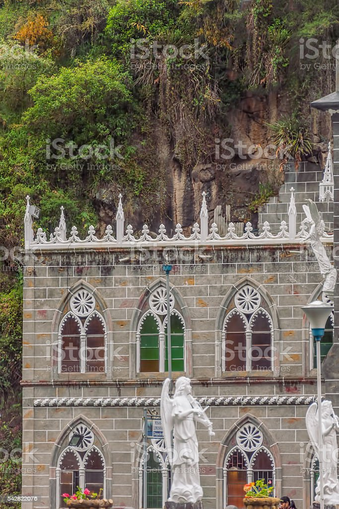 Las Lajas Sanctuary, South America stock photo