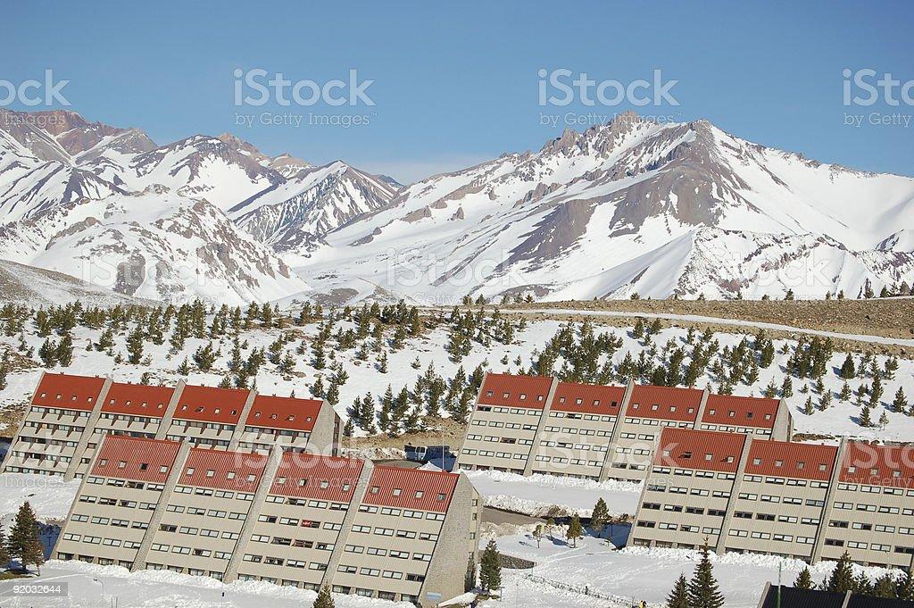 Las Leñas Kurort narciarski zbiór zdjęć royalty-free