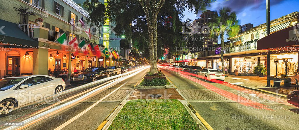 Las Olas Boulevard stock photo