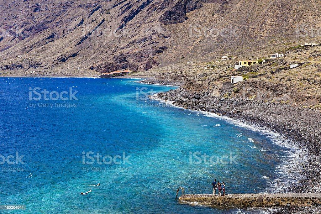 Las Playas, El Hierro stock photo