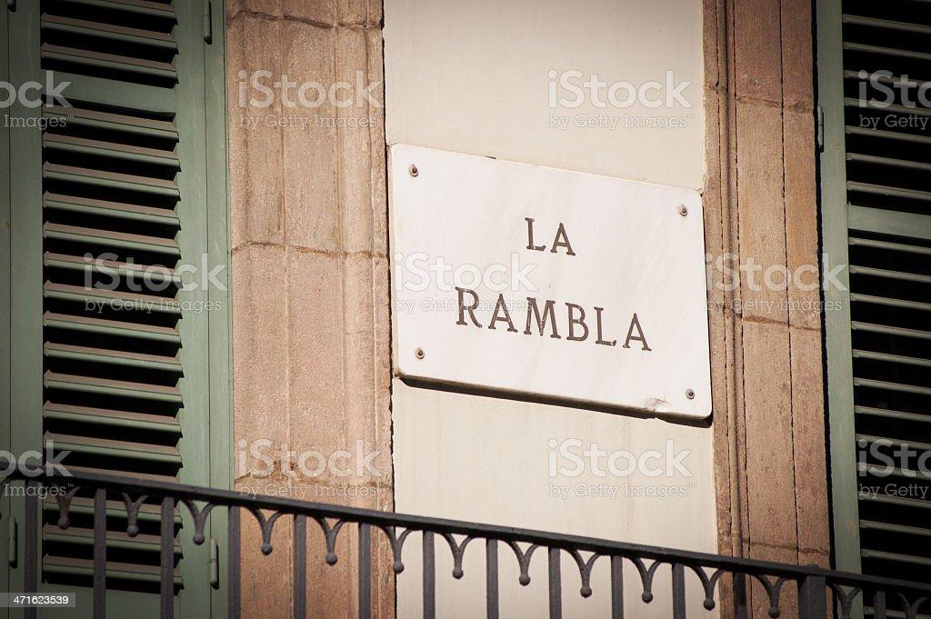 Las Ramblas, Barcelona, Spain royalty-free stock photo