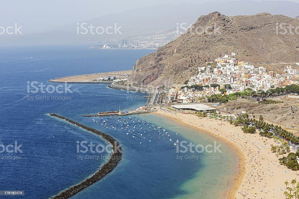 Playa de Las Teresitas stock photo