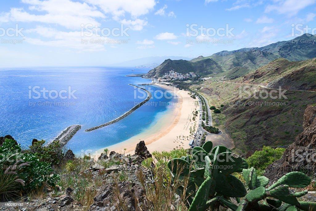 Las Teresitas Beach Tenerife Island Spain horizontal stock photo