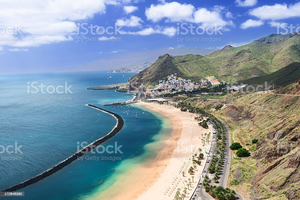 Las Teresitas Beach Tenerife Island Spain stock photo