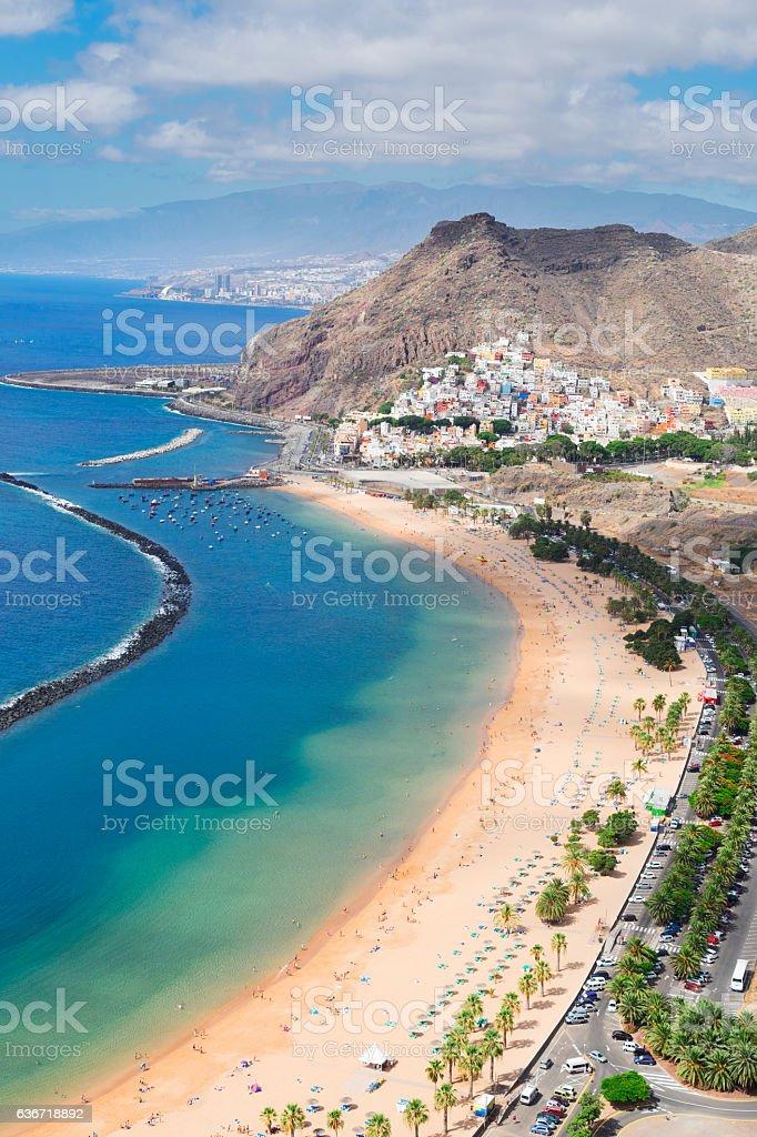 Las Teresitas beach, Tenerife stock photo