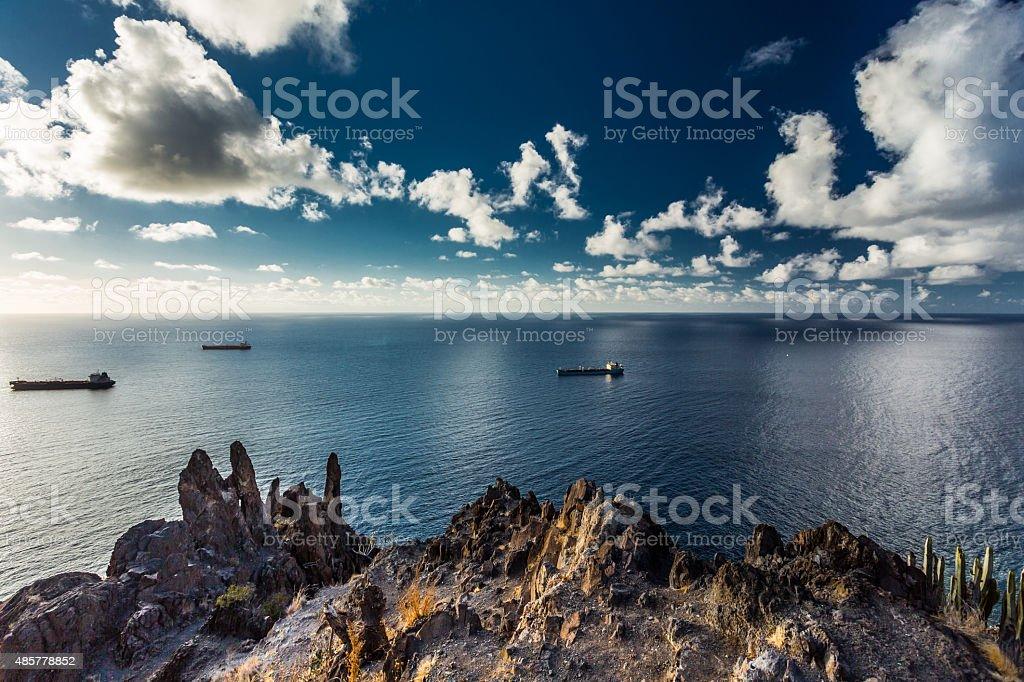 Las Teresitas in Tenerife stock photo