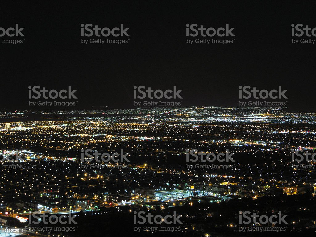 Las Vegas - Aereal night view stock photo