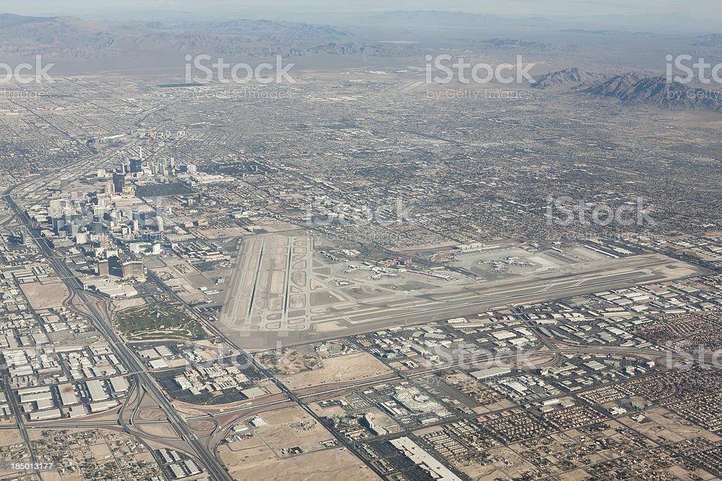 Las Vegas Aerial View stock photo