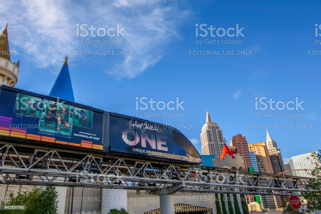 Las Vegas and Monorail stock photo