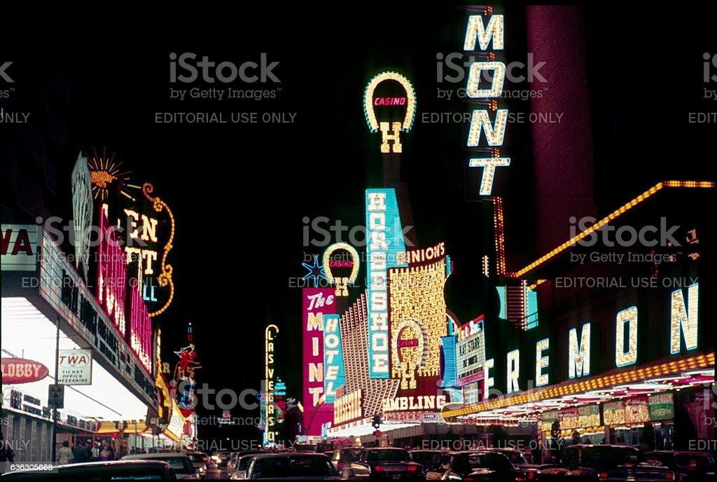 Las Vegas at Night II, 1968 stock photo