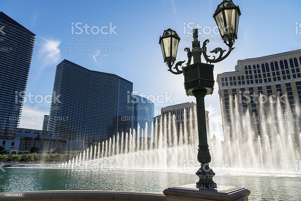 Las Vegas at sunset royalty-free stock photo