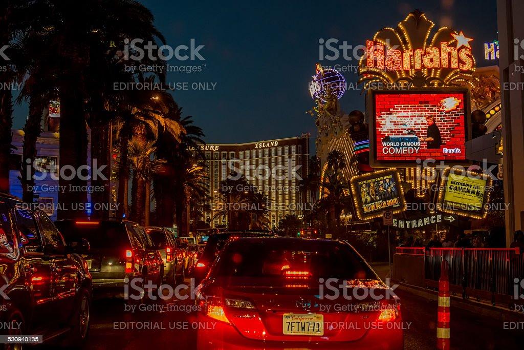 Las Vegas Boulevard by night stock photo