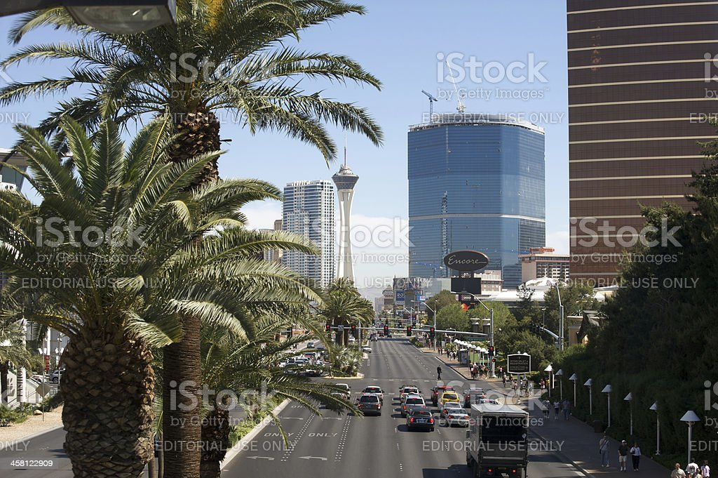 Las Vegas Boulevard royalty-free stock photo