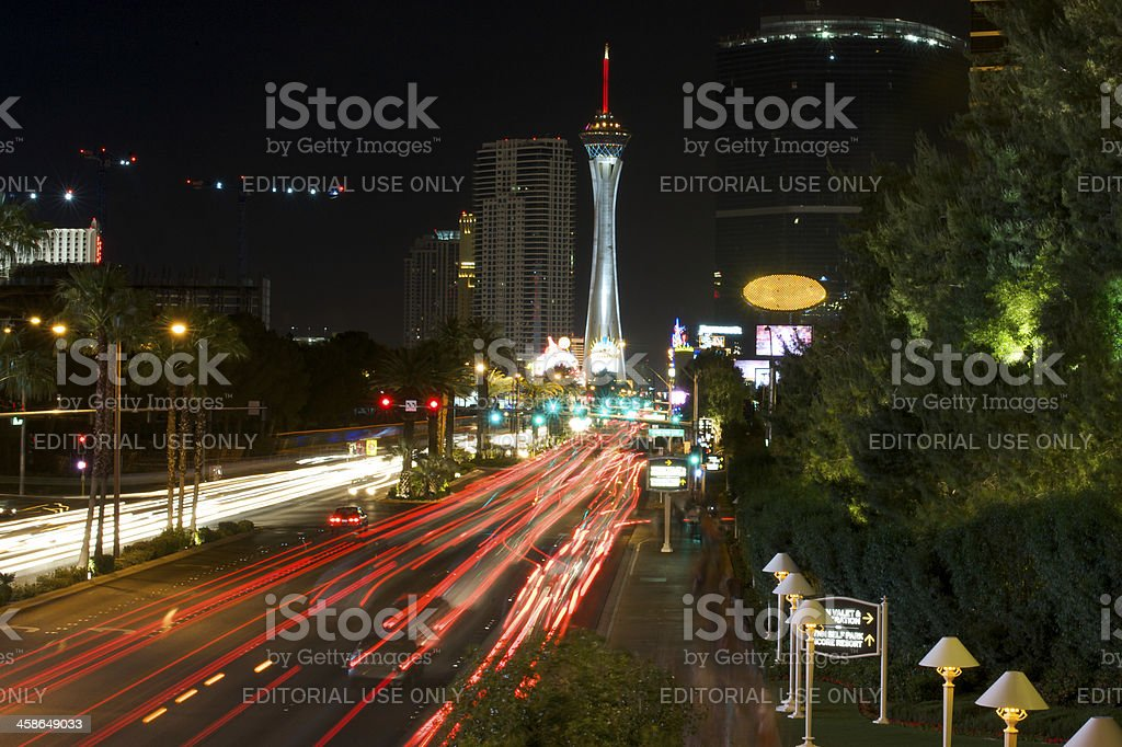 Las Vegas Boulevard royalty-free stock photo