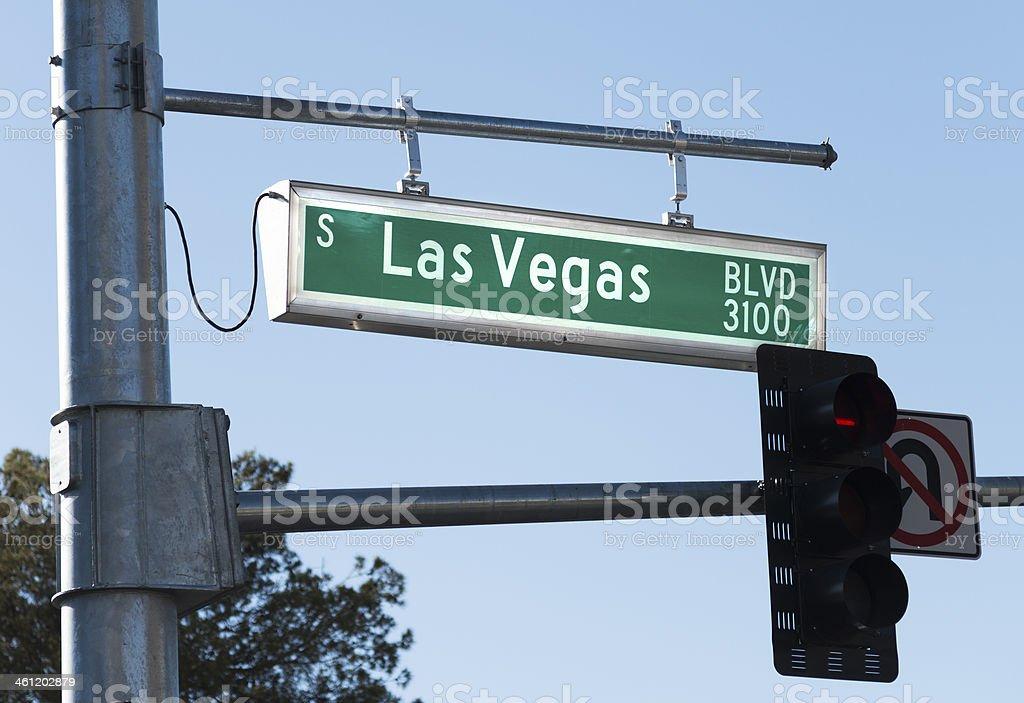 Las Vegas Boulevard street sign royalty-free stock photo