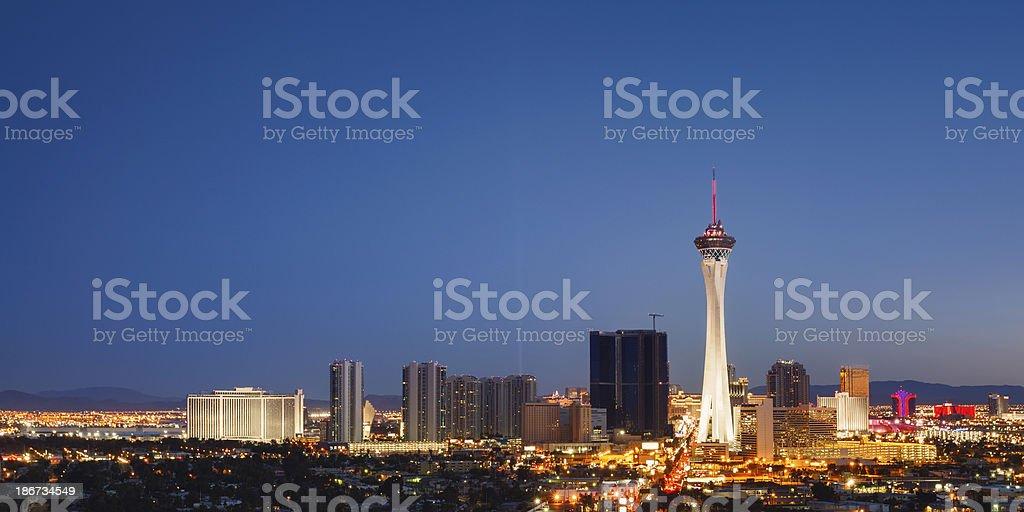 Las Vegas by night royalty-free stock photo