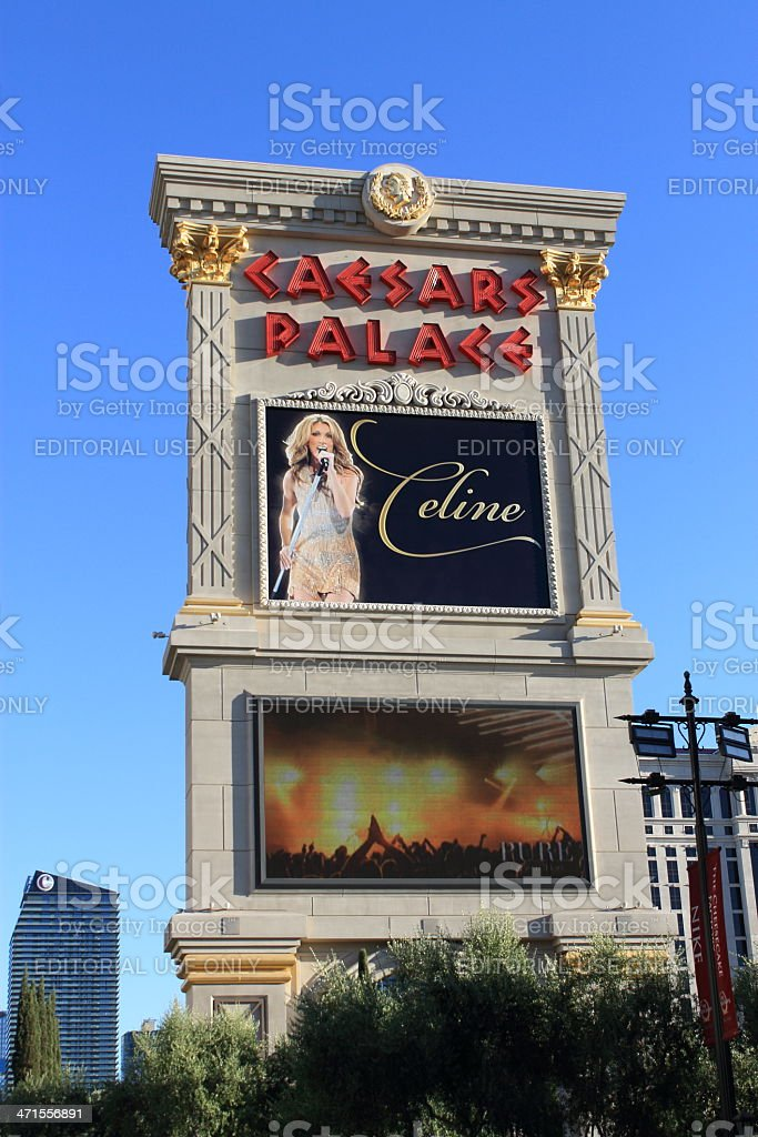 Las Vegas - Caesars Palace Hotel and Casino Marquee royalty-free stock photo