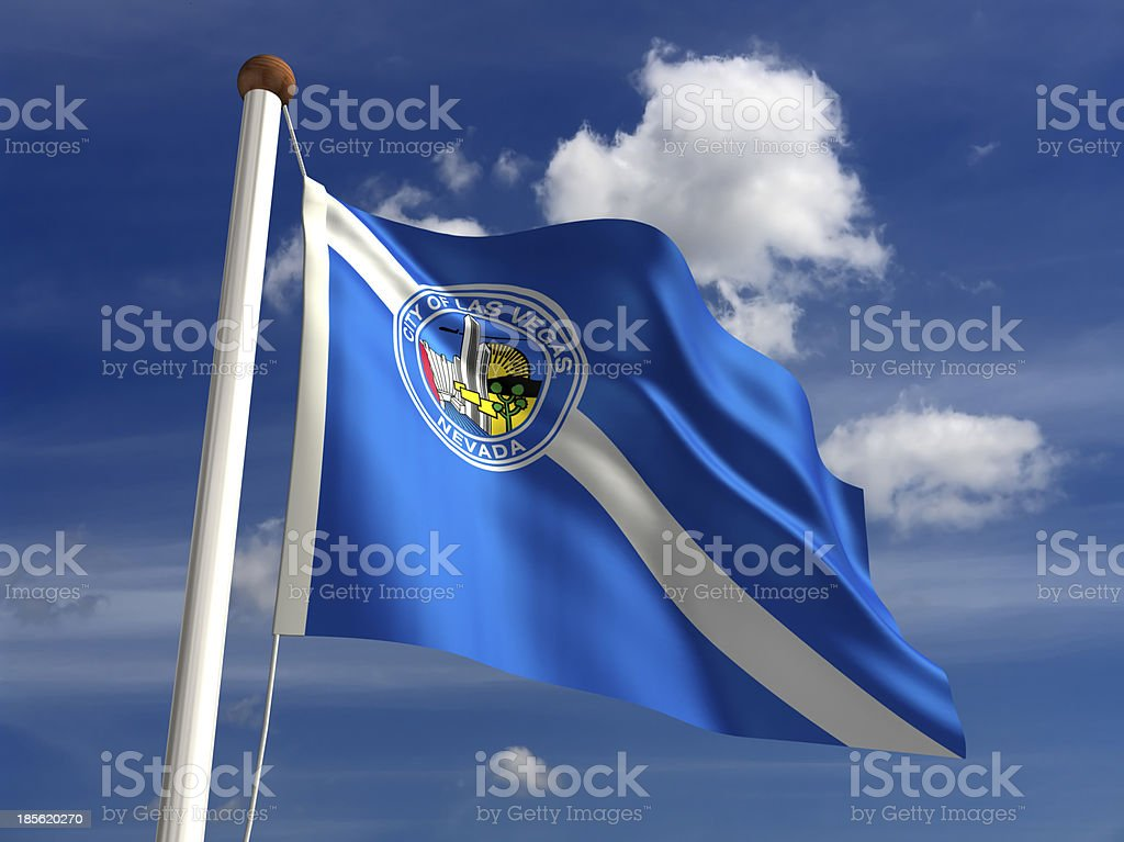 Las Vegas City Flag royalty-free stock photo