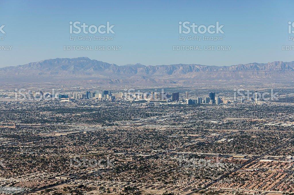 Las Vegas City Sprawl stock photo