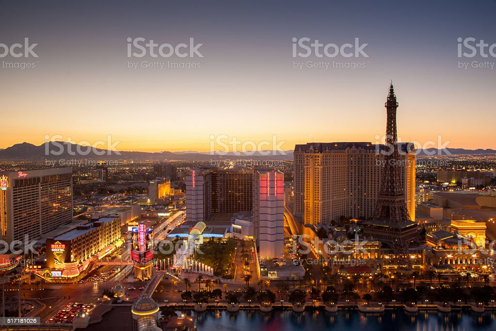Las Vegas City Sunset stock photo