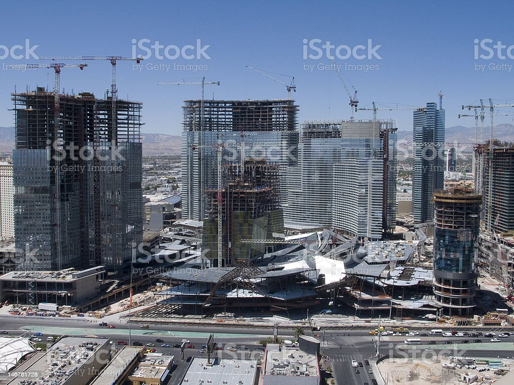Las Vegas Construction royalty-free stock photo
