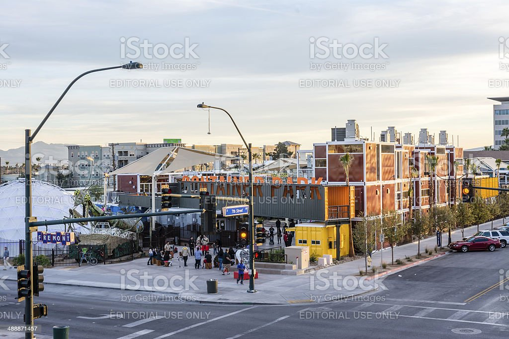 Las Vegas Container Park royalty-free stock photo