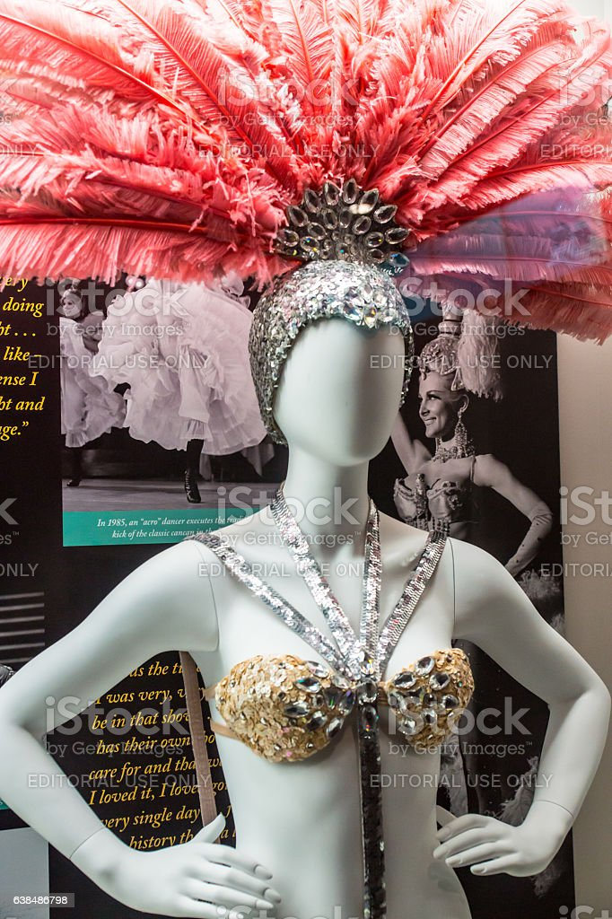 Las Vegas Dancer Costume Display stock photo