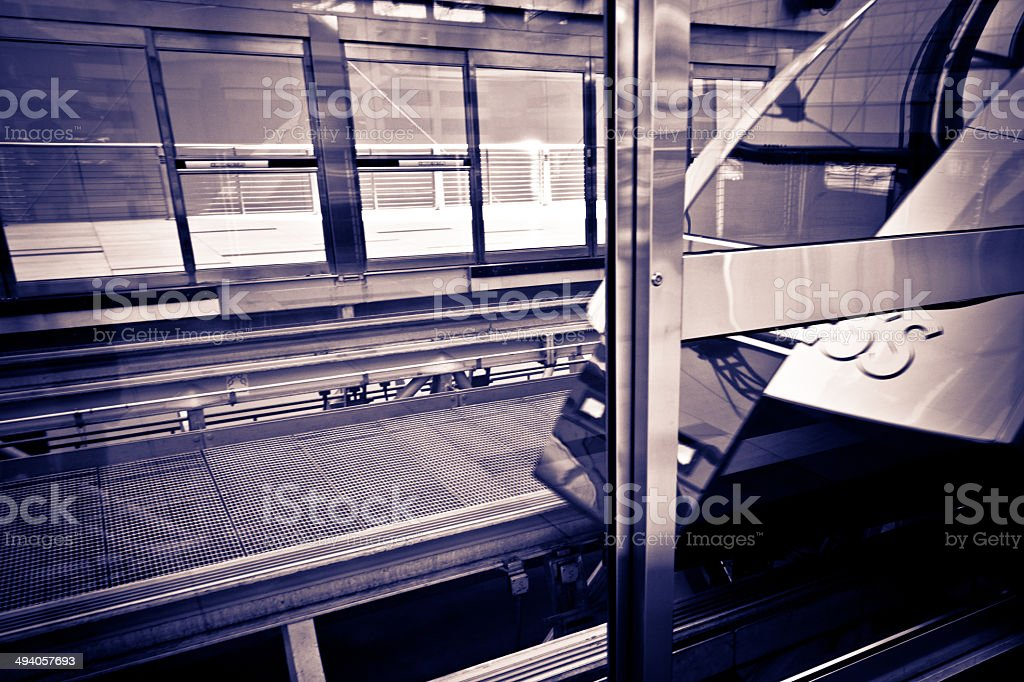 Las Vegas Express Monorail stock photo