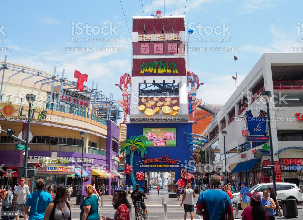Las Vegas Freemont Street stock photo