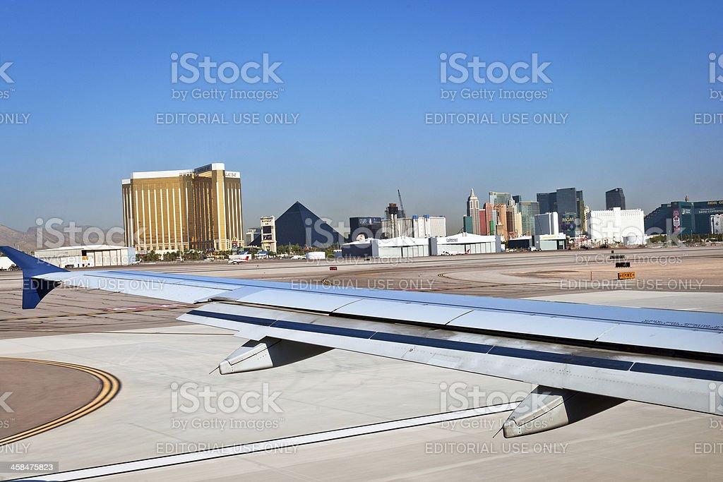 Las Vegas from McCarran Airport, Nevada, USA stock photo