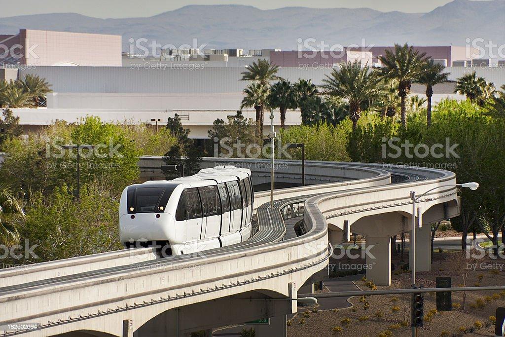 Las Vegas MonoRail de l'énergie verte entièrement automatisé système photo libre de droits
