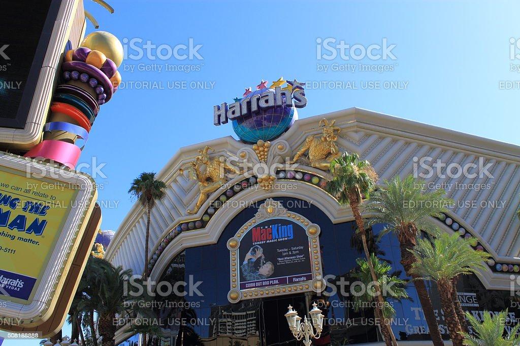 Las Vegas - Harrah's Hotel and Casino stock photo