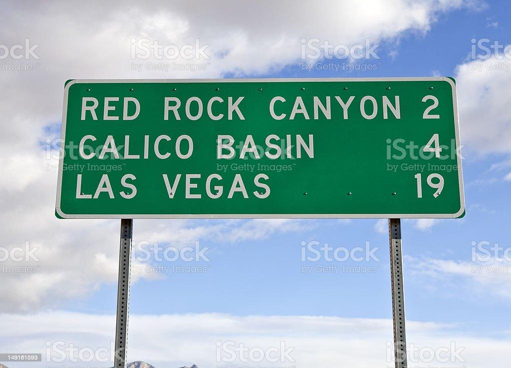 Las Vegas Highway Sign royalty-free stock photo