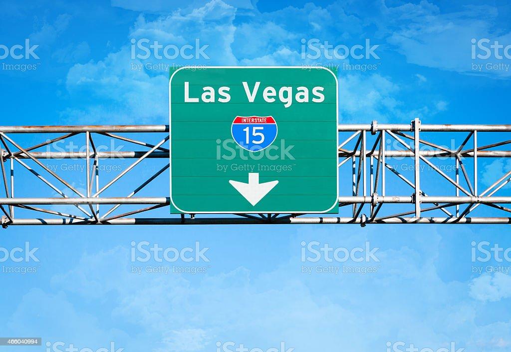 Las Vegas Interstate 15 Sign stock photo