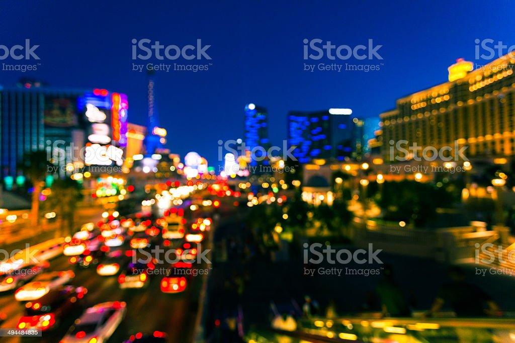 Las Vegas lights along the Strip stock photo