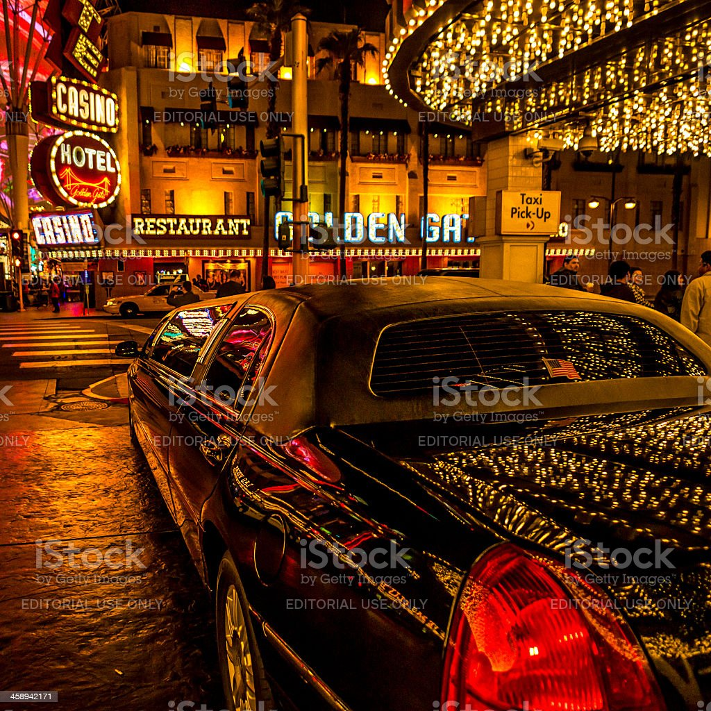 Las Vegas Limousine stock photo