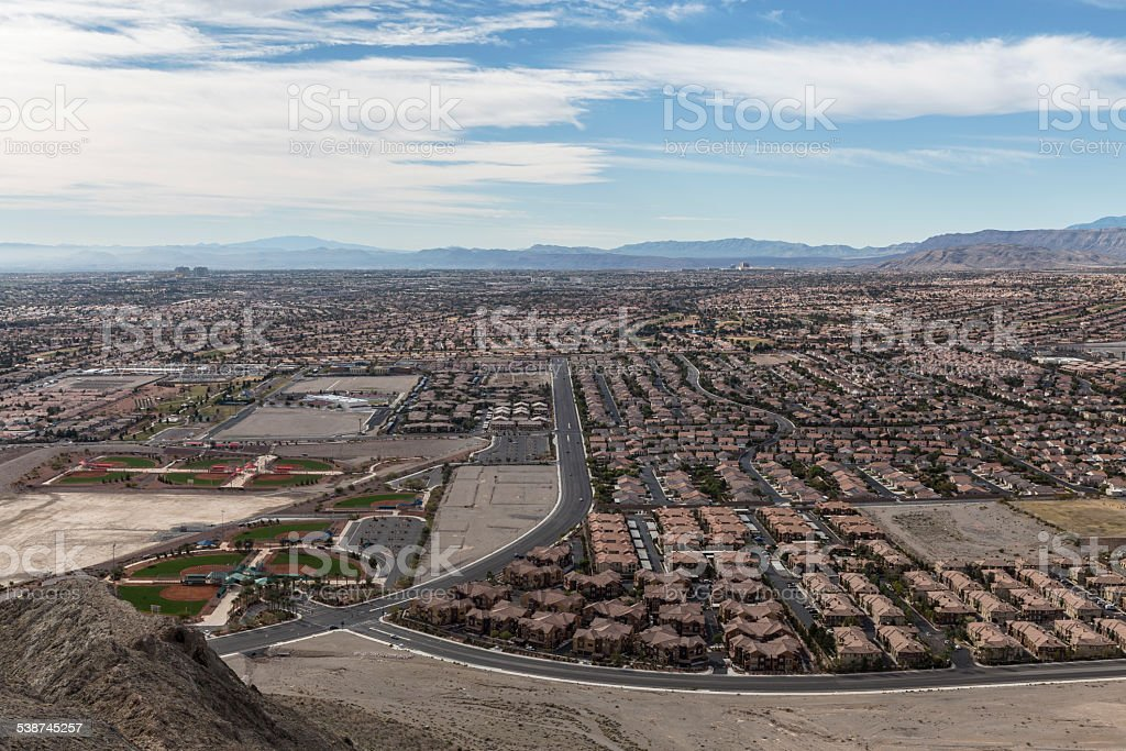 Las Vegas Lone Mountain View stock photo