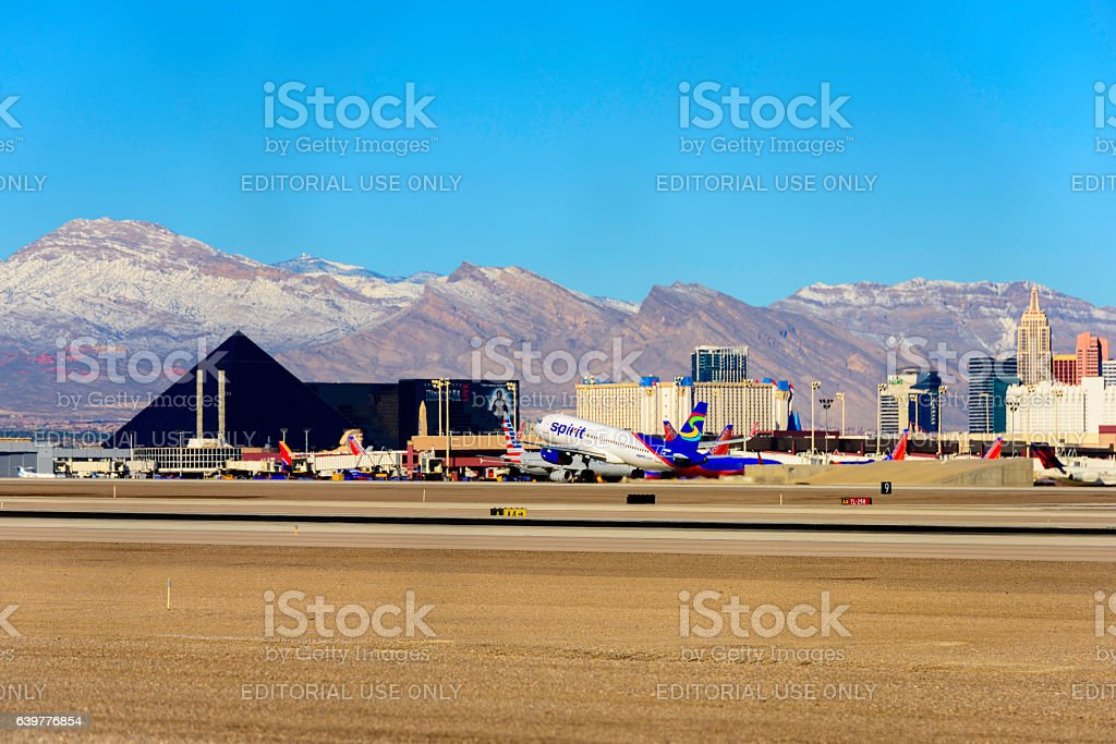 Las Vegas looking from the airport stock photo