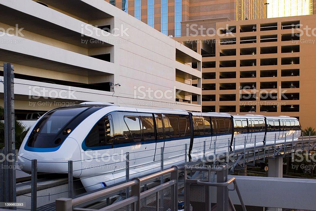 Las Vegas Monorail foto stock royalty-free