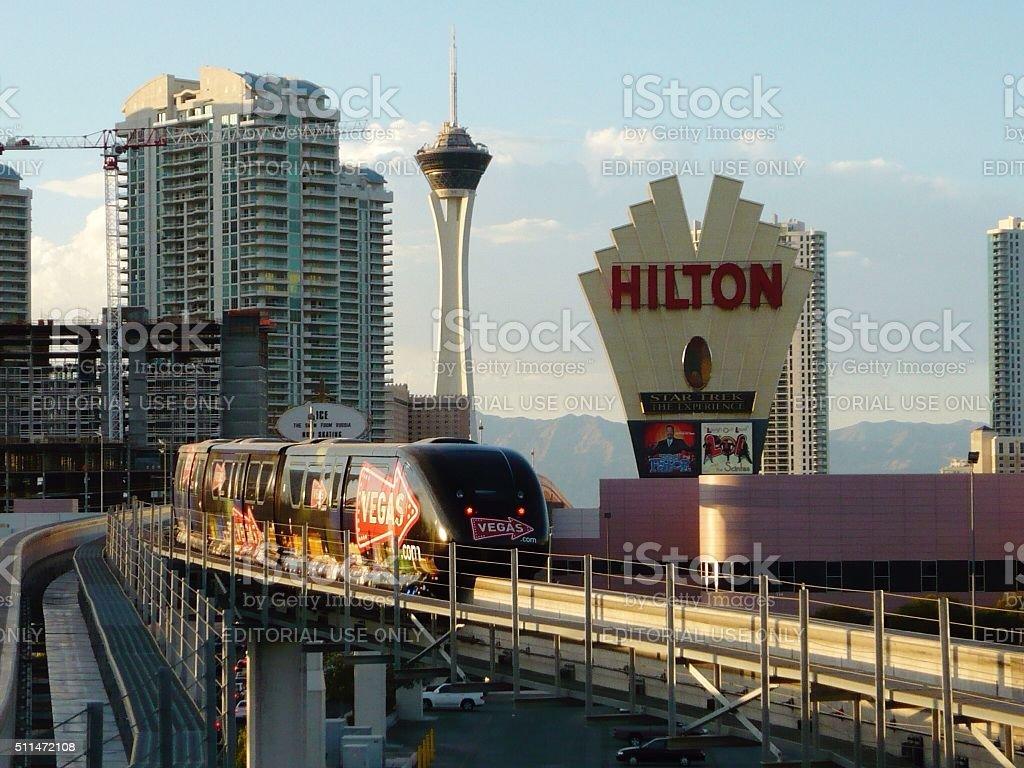 Las Vegas Monorail stock photo