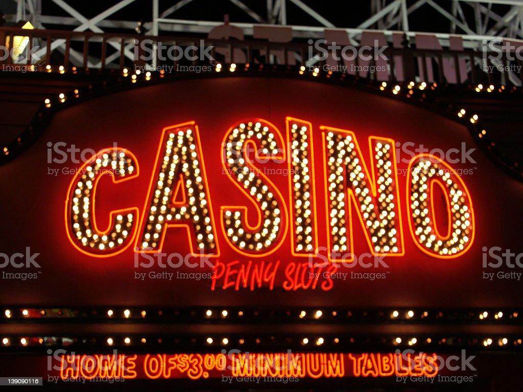 Las Vegas Neon Casino Sign royalty-free stock photo
