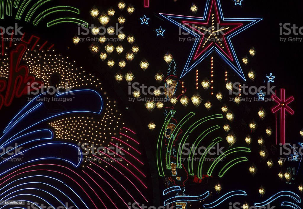 Las Vegas Neon Lights royalty-free stock photo