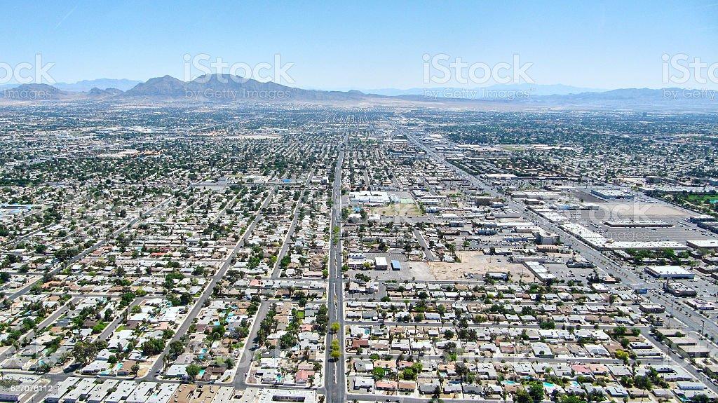 Las Vegas Nevada - Aereal view stock photo
